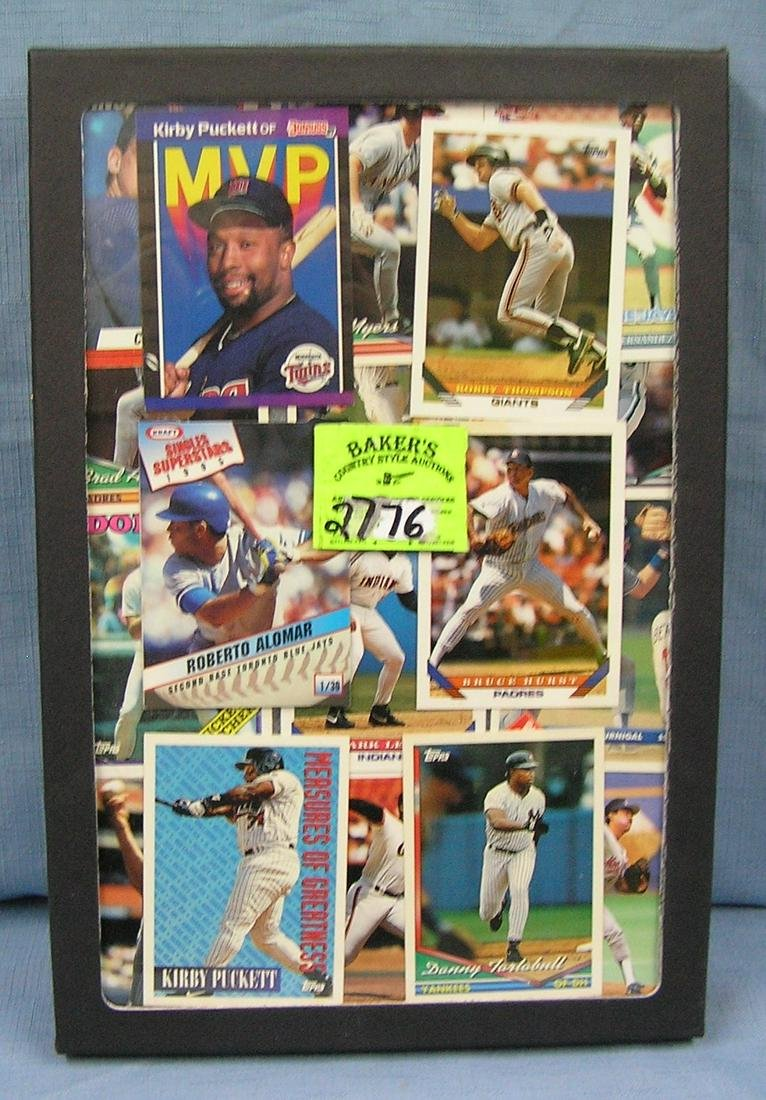 Collection of vintage all star baseball cards
