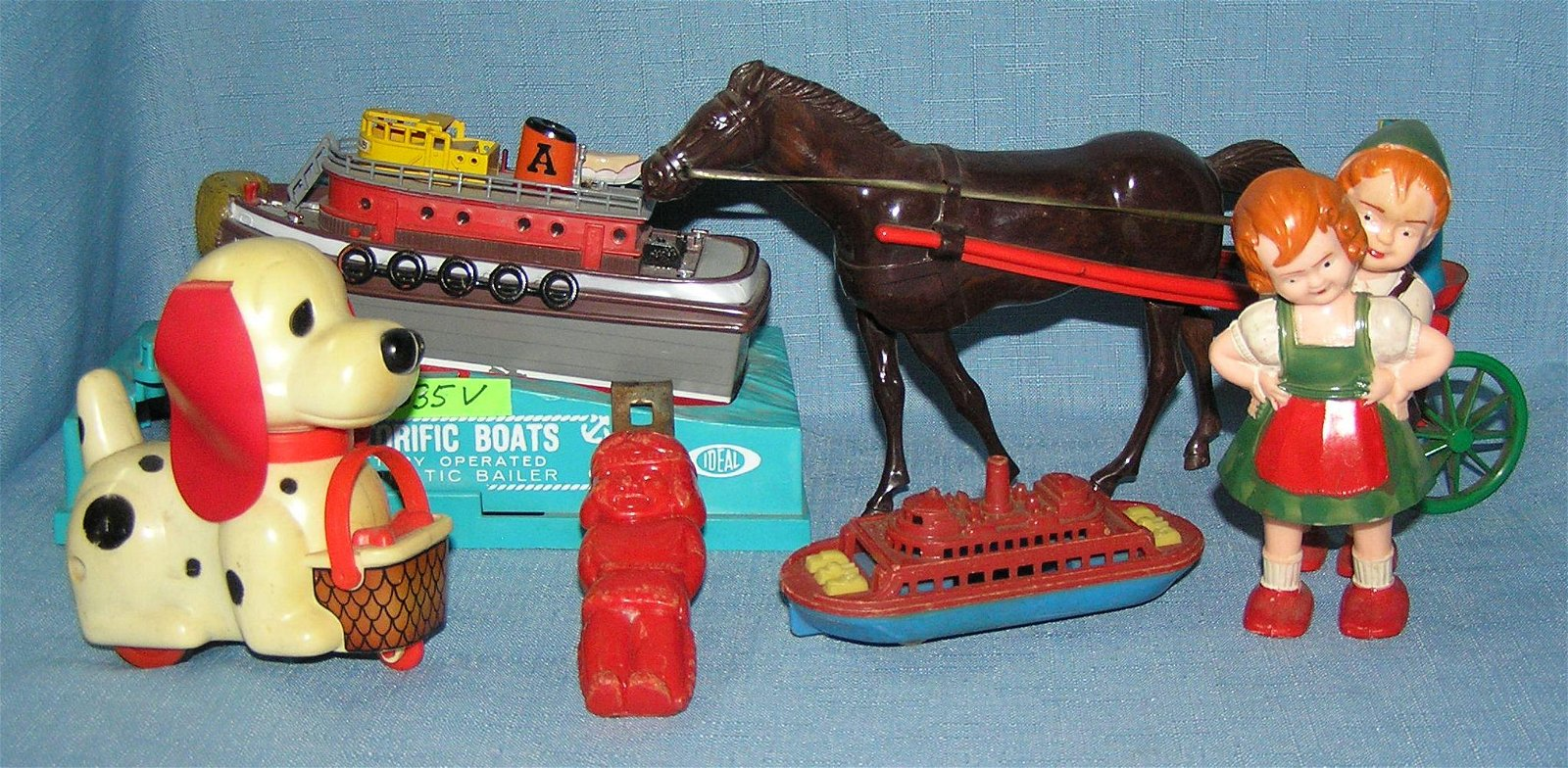 Vintage hard plastic toys and collectables