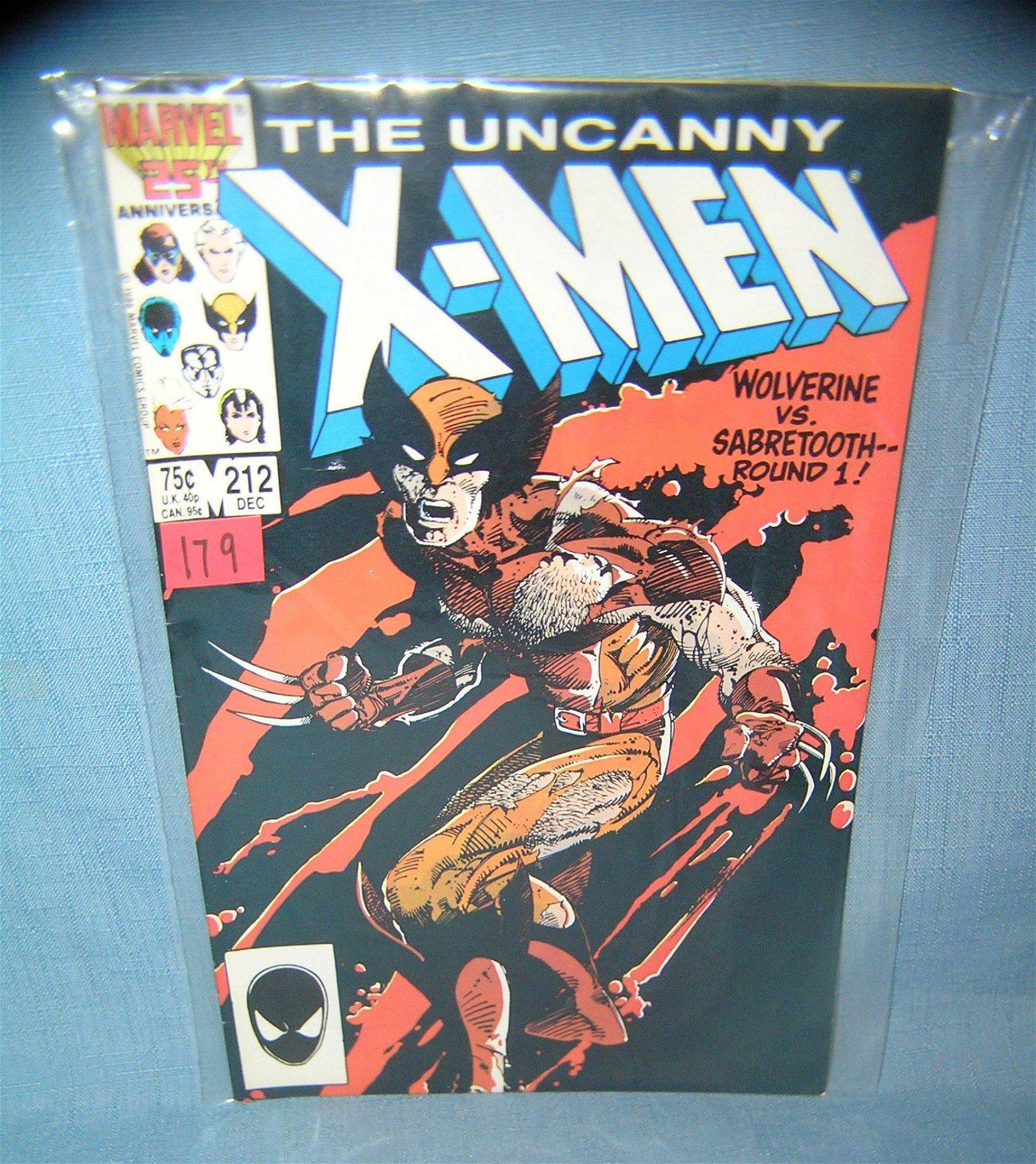 Xmen comic book featuring Wolverine VS Sabertooth
