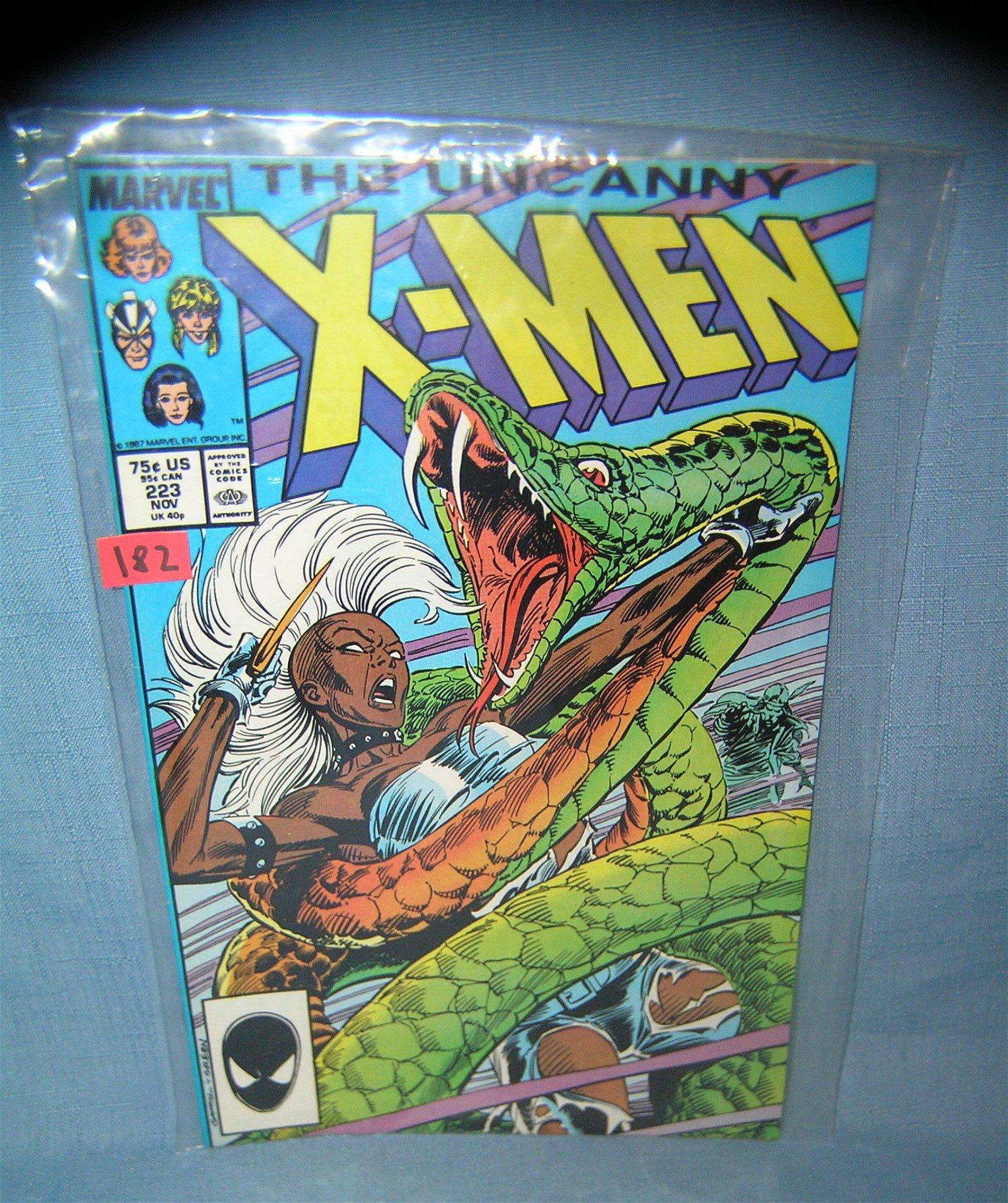 Early Xmen comic book 1986
