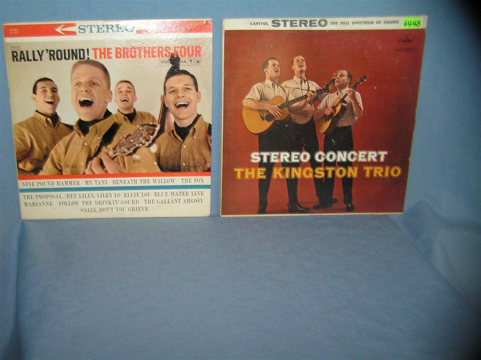 Pair of vintage record albums