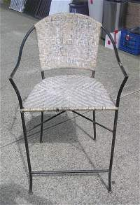 Wrought Iron And Wicker Chair May 02 2020 Baker S Antiques Auctions In Ny