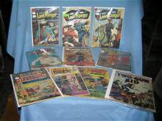 Collection of vintage western stars comic books