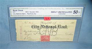 City National bank check dated December 1900