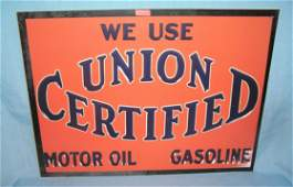 Union certified gas and oil retro style advertising