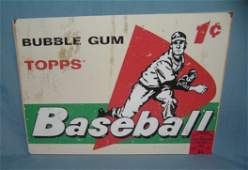 Topps Baseball bubble gum cards retro style sign