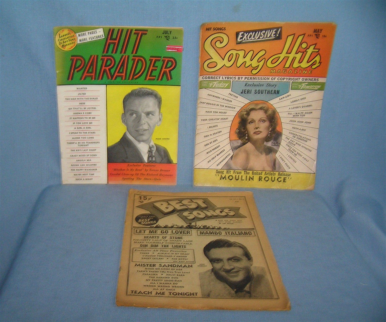 Group of vintage music magazines includes Hit Parade