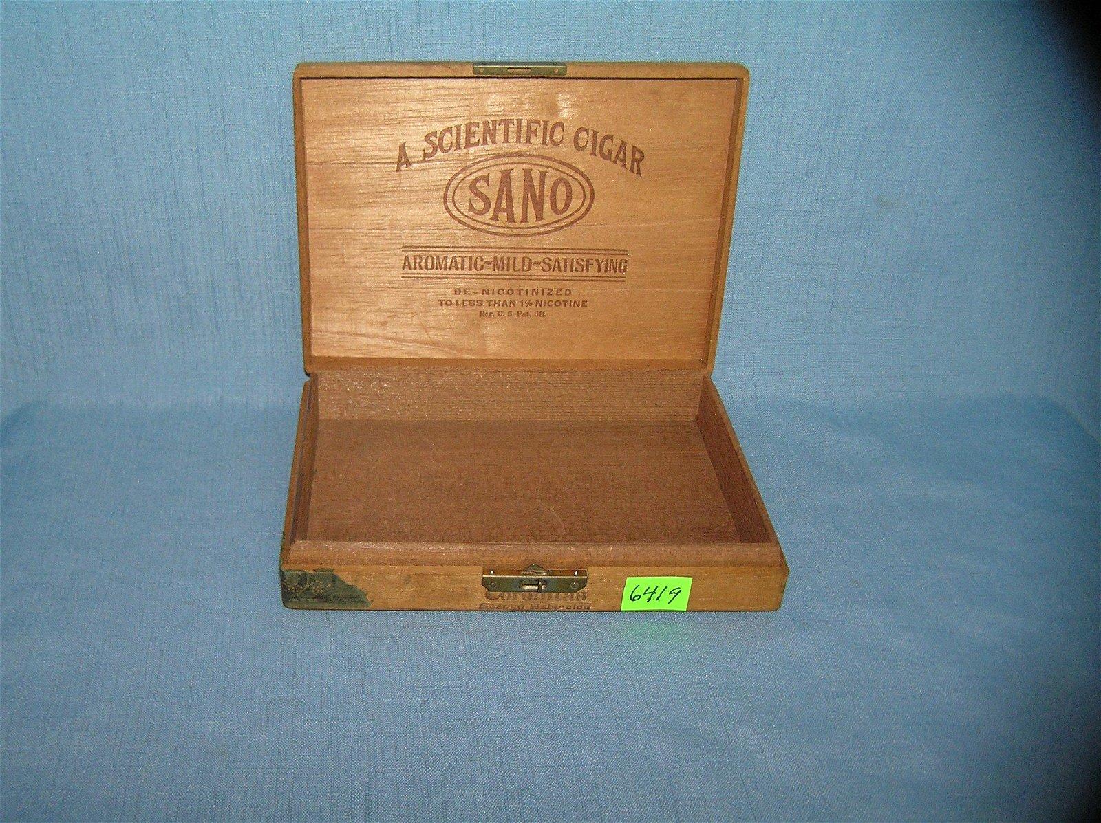 Early wood cigar box