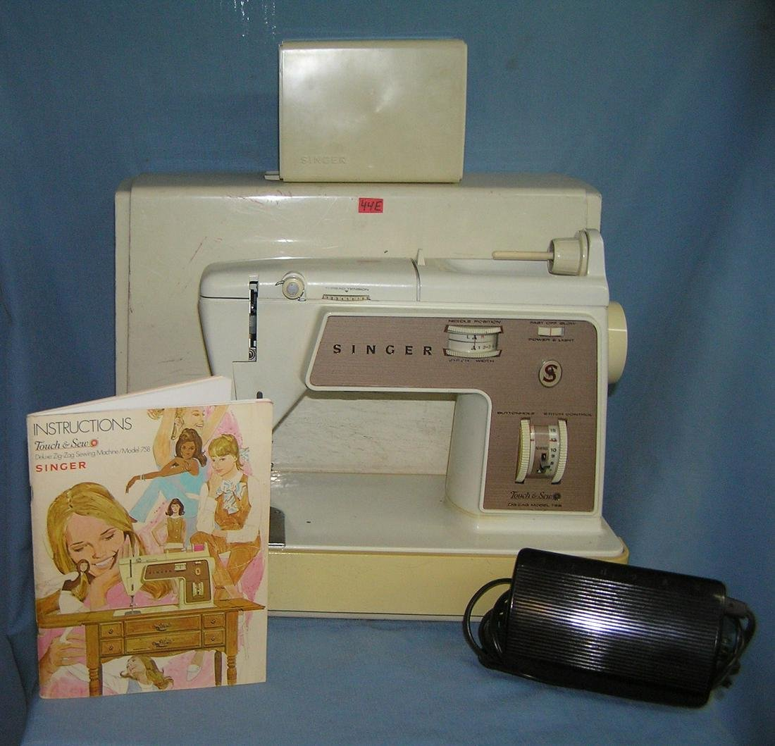 Singer touch and sew deluxe zig zag sewing machine