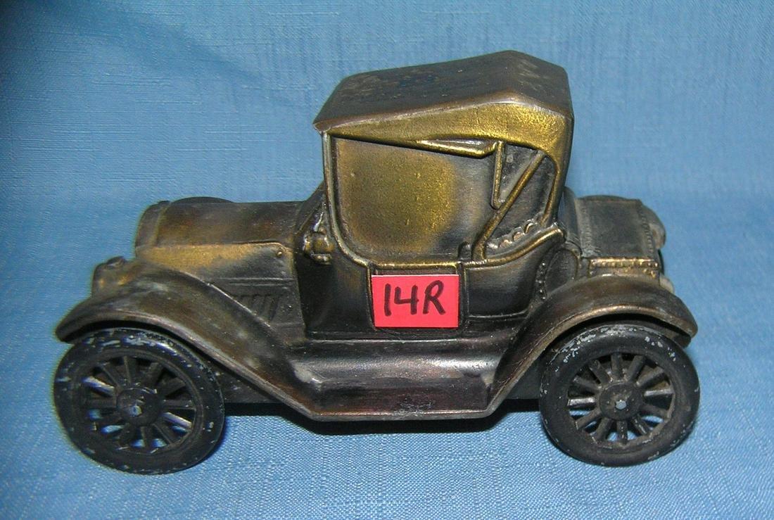 1915 Chevrolet coupe figural coin savings bank