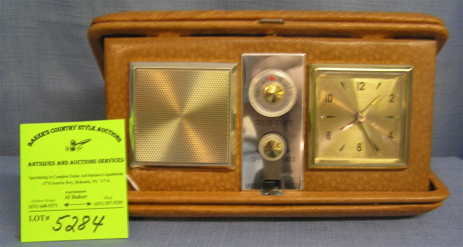 Vintage portable radio and alarm clock