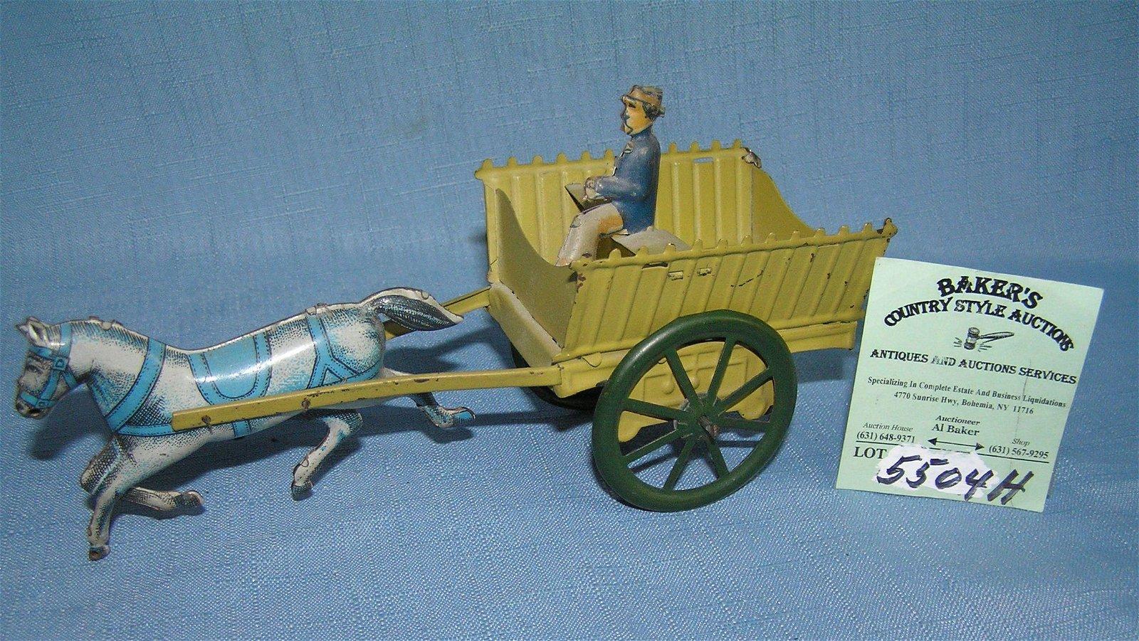 All tin horse drawn farm cart