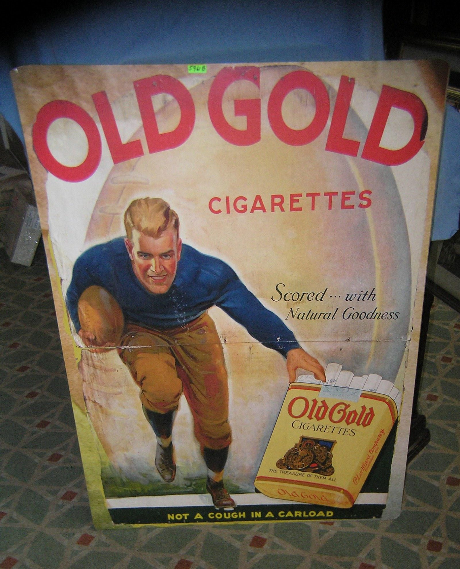 Old Gold cigarettes large retro style advertising sign