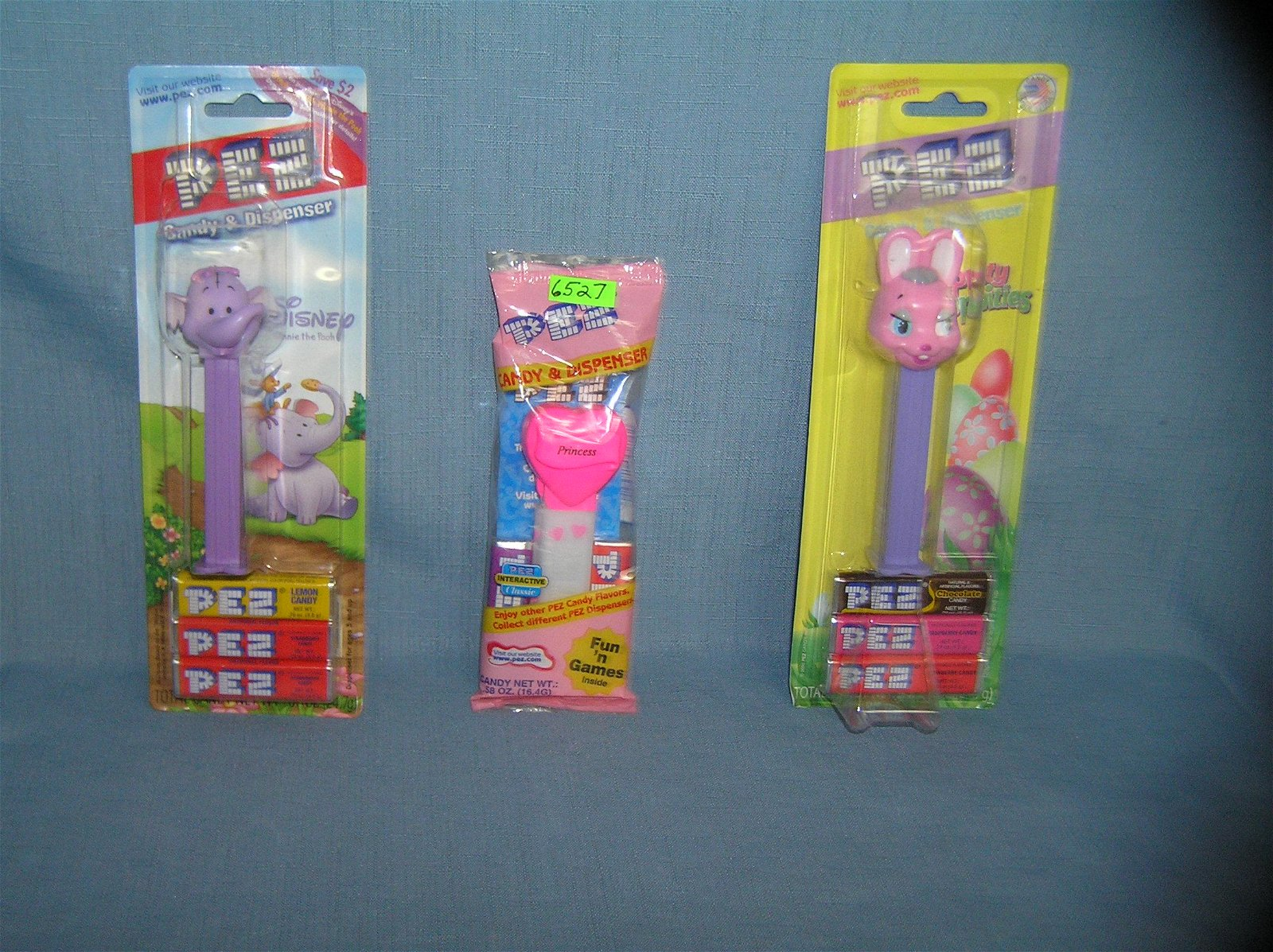 Group of vintage PEZ candy containers