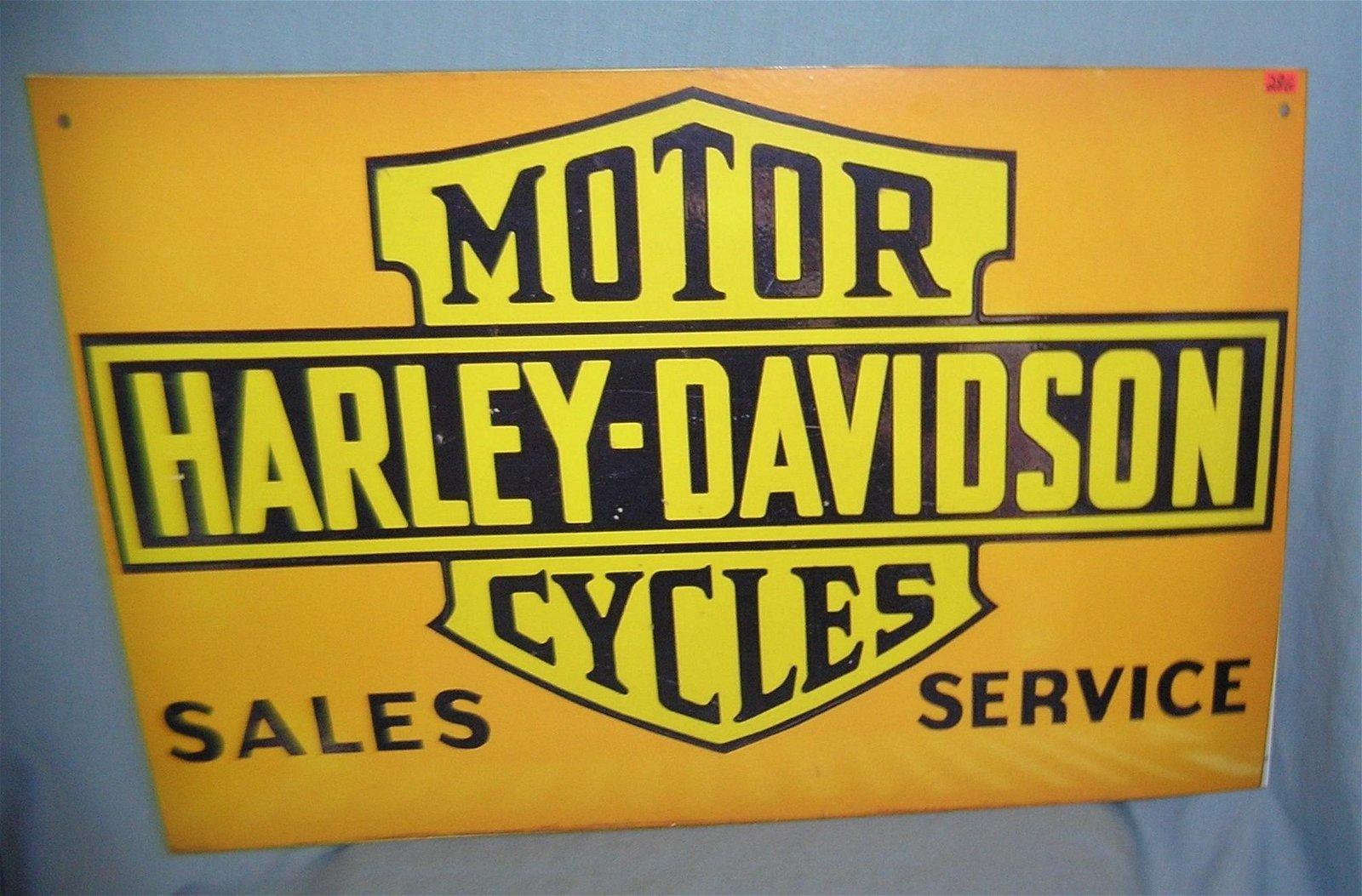 Antique style retro Harley Davidson advertising sign