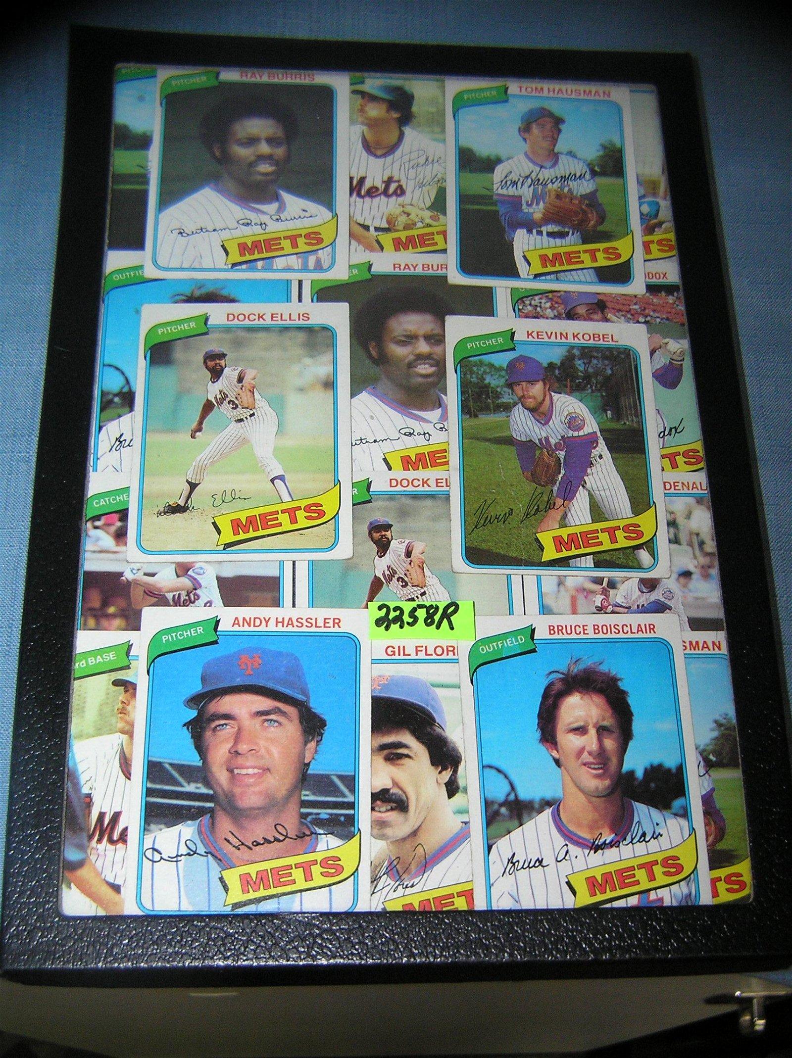Vintage NY Mets all star baseball cards