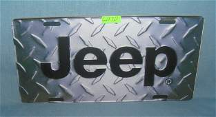 Jeep License plate size retro style sign