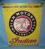 Indian Motorcycle retro style advertising sign