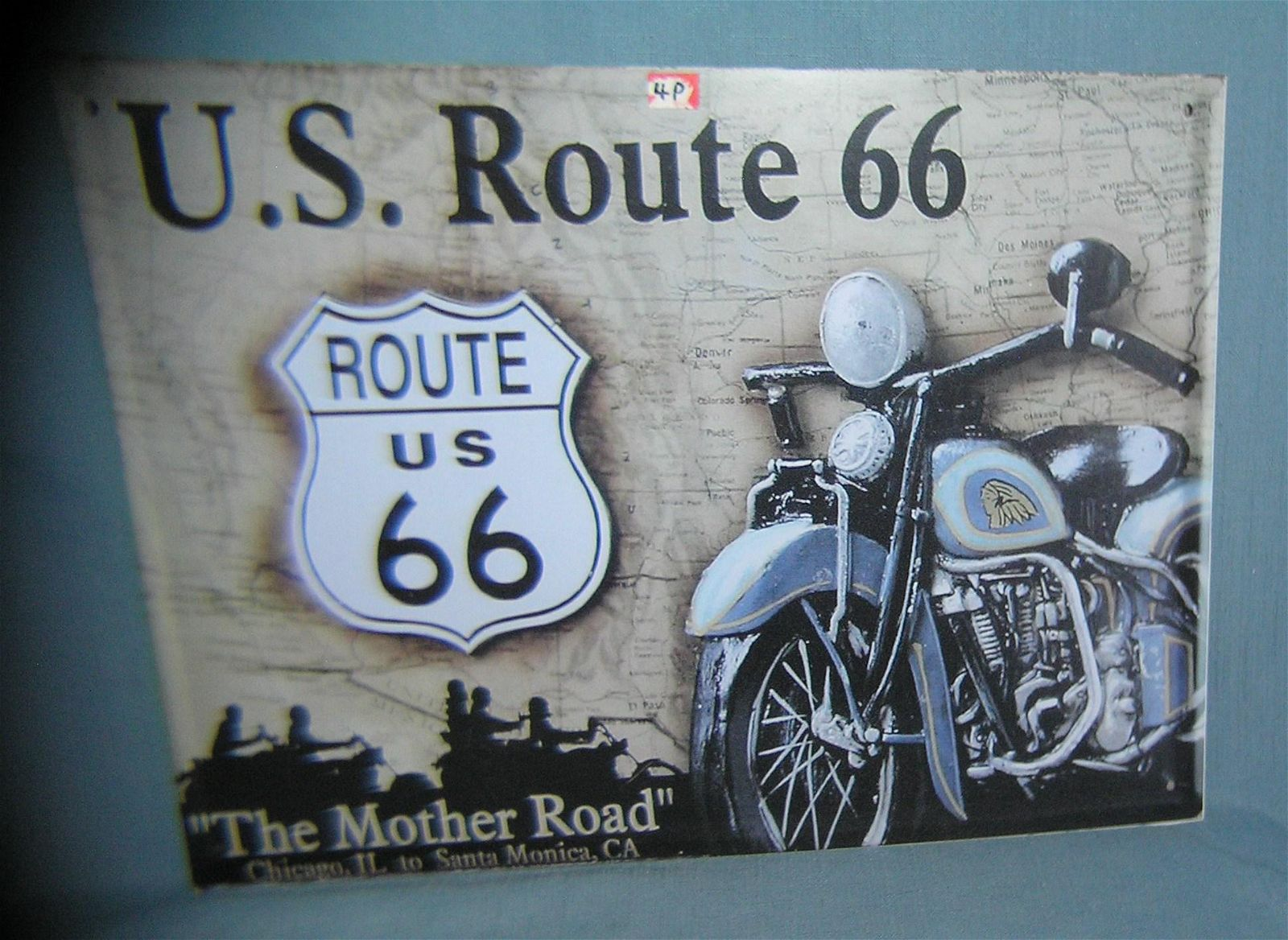 US Route 66 the Mother Road retro style sign