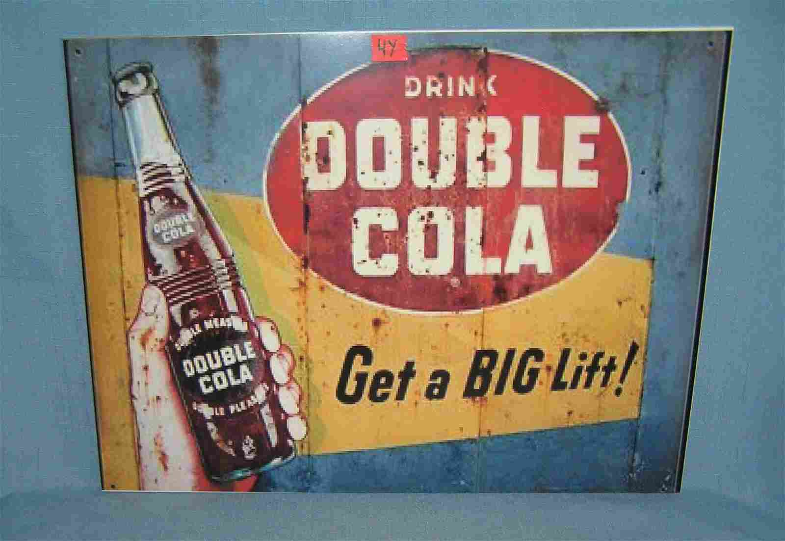 Drink Double Cola retro style advertising sign