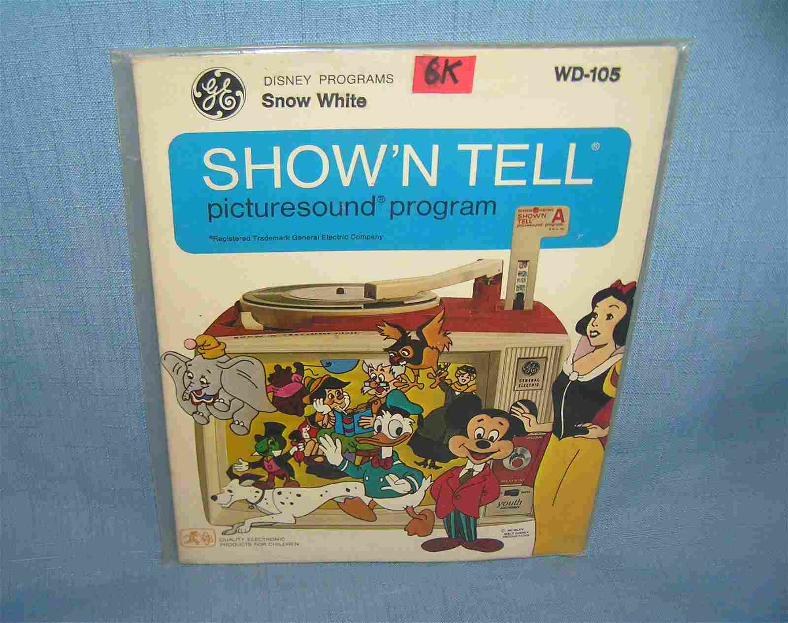Snow White Show N' Tell picture sound record