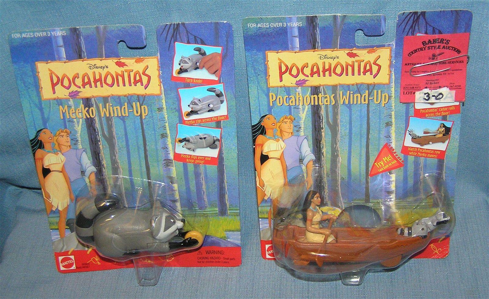 Pair of Disney Pocahontas toys