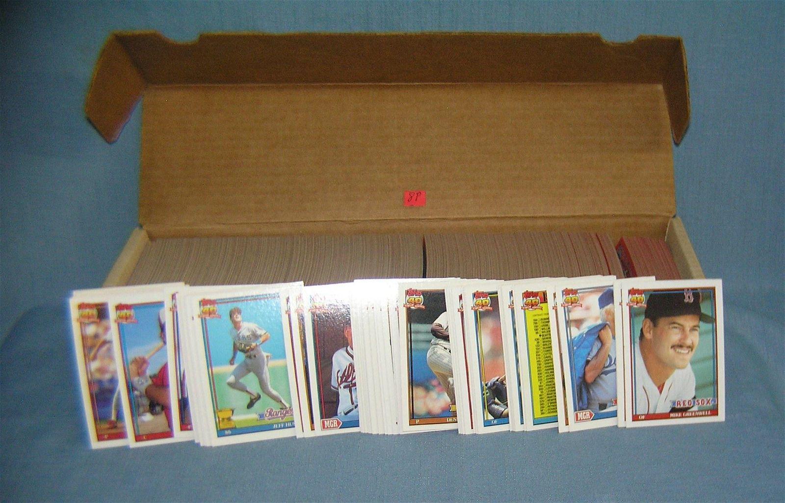 1991 Topps baseball card set