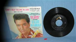 Elvis Presley Blue Hawaii 45rpm record and sleeve