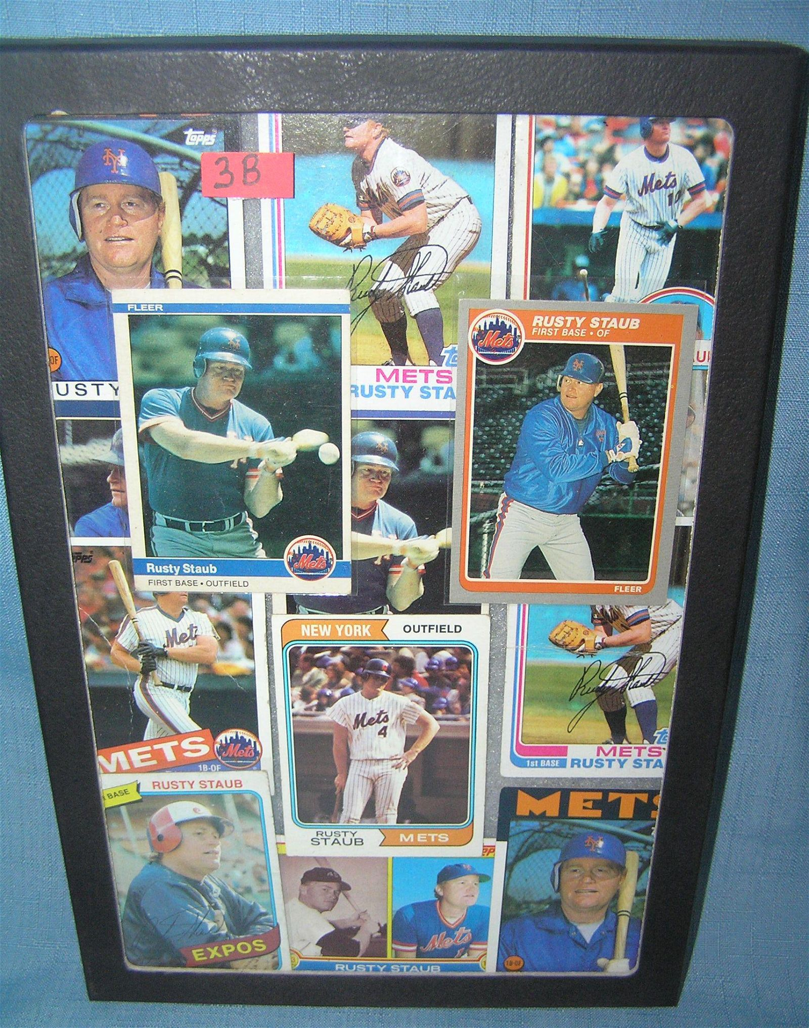 Collection of Rusty Staub all star baseball cards