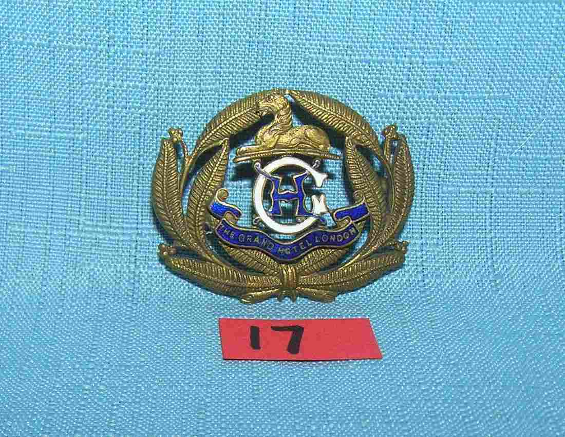 The Grand Hotel London England corporate police badge