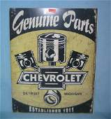 Chevrolet Genuine Parts retro style advertising sign