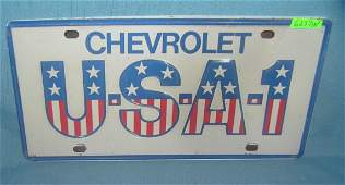 Chevrolet USA License plate size retro style sign