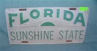 Florida the Sunshine State License plate size retro