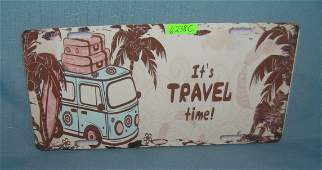 Volkswagen its Travel Time License plate size retro