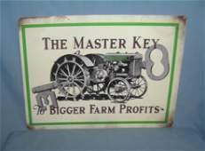 Farm Tractor Retro Style Advertising sign 12x16