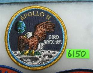 Vintage Apollo 11 hand embroidered space patch