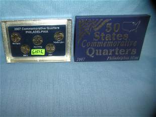 Cased & boxed Philadelphia Mint US state quarter