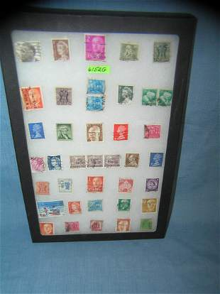 Collection of world wide postage stamps