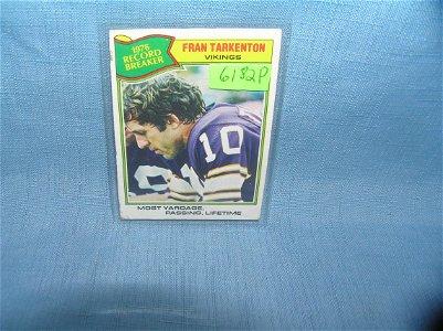 Early Fran Tarkenton football card