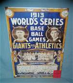 1913 World Series Baseball retro style sign