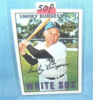 Smoky Burgess Topps archives baseball card