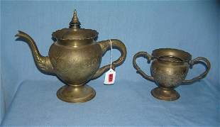 Great early coffee pot and 2 handled sugar bowl