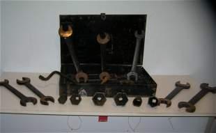 Large antique William's tool set