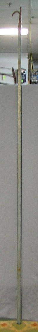 Great early antique fire department rescue hook