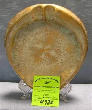 Vintage art pottery ash tray signed Stangl pottery