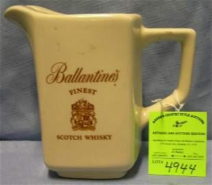 Ballentine scotch whiskey water pitcher