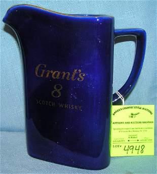 Grants 8 scotch whiskey water pitcher