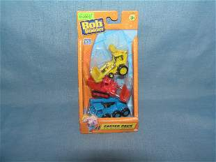 Bob the Builder construction vehicle set mint on card