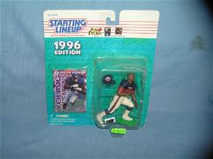 Rashaan Salaam football sports figure and football card