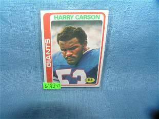 Vintage Harry Carson's 2nd year football card